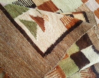 Large Latin American Hand Woven Textile Southwest Santa Fe Home Decor