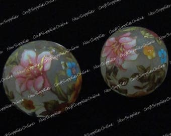 Flowers champetres14mm frosted tensha bead