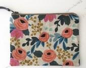Mini clutch/ cosmetics bag- Large RIFLE PAPER Co FLORAL