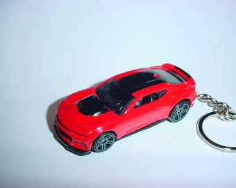 3D Chevrolet Camaro ZL1 custom keychain keyring key chain by Brian Thornton finished in red and black trim