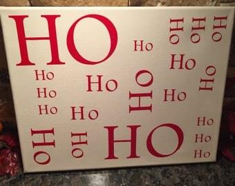HoHoHo Christmas Canvas