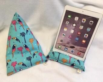 Tropical Birds Tablet/Ipad beanie cushion