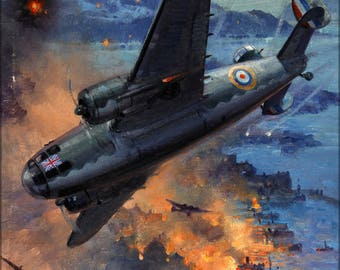 Poster, Many Sizes Available; Inf3 16 Bombing Scene Artist C E Turner 1939 1946