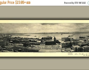 20% Off Sale - Poster, Many Sizes Available; View Of Harbor San Juan Puerto Rico 1927