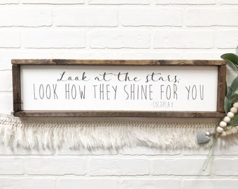 """Coldplay Lyric Sign 