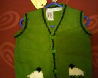 Hand knitted waistcoat, to fit a child aged 6-12 months old