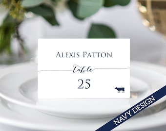 Place Card Template, Place Cards with Meal Choice, Place Cards Wedding, Place Cards Printable, Place Cards With Meal Icon, Seating Cards