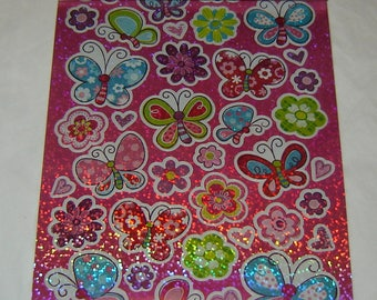 STICKERS,Butterflies, Hearts, Lady Bugs, Bees, Dragonflies, By Recollections, Scrapbooking, Cards, Craft Projects, Collage,Stationary (R68)