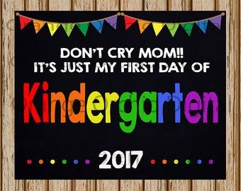 "INSTANT DOWNLOAD- First Day of Kindergarten Sign- School Chalkboard sign- School Digital Sign-School Photography Prop-8"" x 10"" image-Digital"
