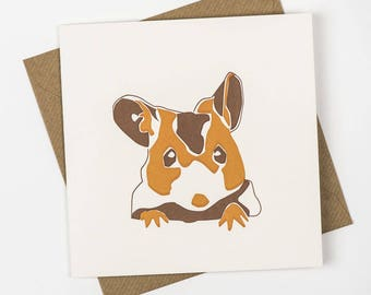 brown Mouse Card - Mice Greeting Card - 1st Birthday Cards - Animal Cards - Field Mouse - Harvest - Animal Crossing Cards - Happy Birthday