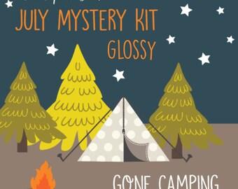 July Mystery Kit - Glossy Planner Stickers Designed for Erin Condren Life Planner Vertical