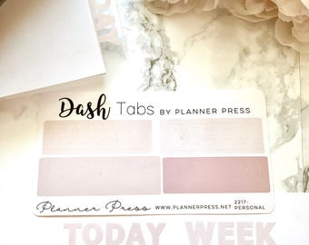"DashTabs by Planner Press ""Ava"" Nude Ombre Top Tabs For TN's and Midori Travelers Notebook & Ringbound Planners 2217"