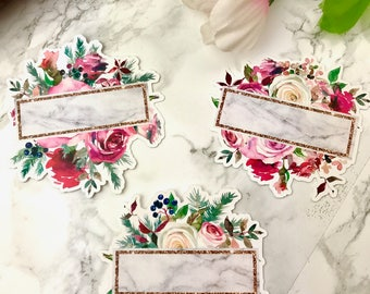 Marble & Floral Die Cuts