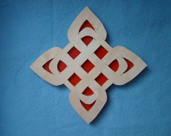Scroll Saw Art Wall Plaque Celtic Knot Design