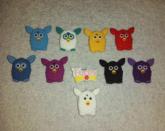 Lot 10 jibbitz Furby (badges for fangs)