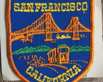 San Francisco California Vintage Souvenir Travel Patch from Holm Patches