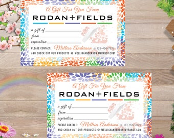 PRINTABLE Rodan and Fields Gift Certificate, Rodan and Fields Gift Cards, Rodan + Fields Business, Digital Files RF007