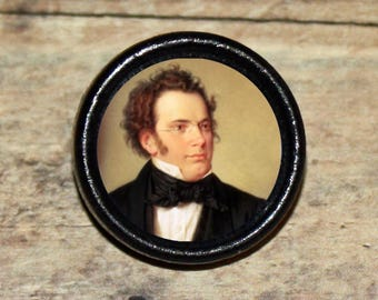 Franz SCHUBERT Pendant or Brooch or Ring or Earrings or Tie Tack or Cuff Links
