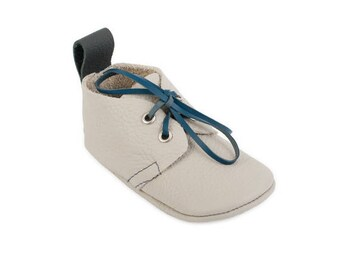 Toddler wedding boot / Leather lace ups / Australian handmade baby shoes / Eco-friendly rescued leather / Feet shaped barefoot moccasins