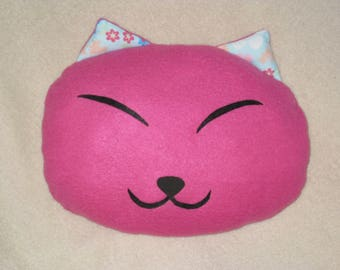 """""""Laughing cat"""" animal pillow 30 cm"""