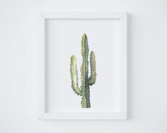 Saguaro Print - cactus painting - cactus watercolor - home decor painting - southwestern painting - greenery - cacti art - southwest
