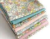 Liberty Pastel Fat Quarter Bundle - Liberty of London Fabrics, Cottage Garden, Fabric for Quilting