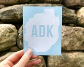 ADK / ADK Silhouette Decal / Hiking Decal / Mountain Decal / Mountain Sticker / Adk Decal / Hiking Sticker / ADK Sticker / North Country