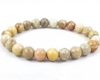 Men's Chrysanthemum Stone Bracelet | Beaded Bracelet | Chakra Bracelet | Healing Bracelet | Metaphysical | Reiki