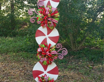 Peppermint Stand Tutorial, Candy Cane Tutorial, Decor Tutorial, DIY Christmas Tutorial, Christmas Decorations