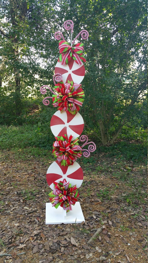 Peppermint Stand Tutorial Candy Cane Tutorial Decor