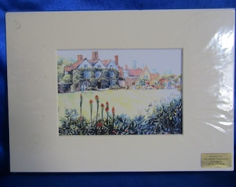 Printed from an Original Water Colour Painting by W.K.Wolinski BWS (H)