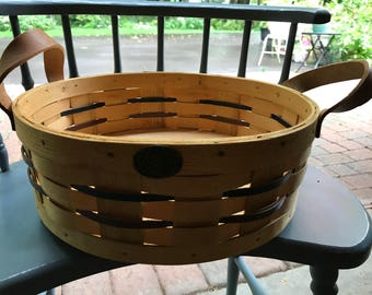 Petersboro Basket Co. with leather handles