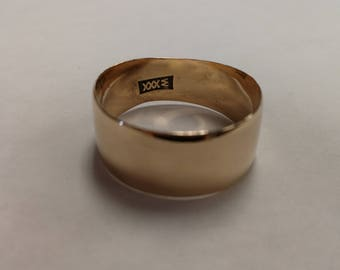 10K Gold Cigar Band Ring