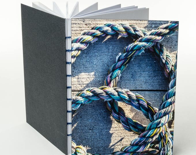 COLORFUL ROPE | small handmade coptic bound blank book diary journal notebook original cover photo | aBoBoBook