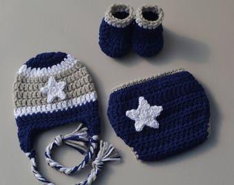 Dallas Cowboy Baby Outfit Crochet Dallas Cowboys Navy Dallas Cowboys Football Outfit Dallas Cowboys Baby Dallas Cowboys Photo Prop Baby Gift