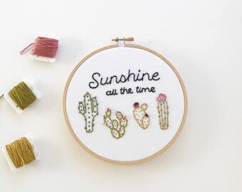 Embroidery // Sunshine all the time // Ready to ship