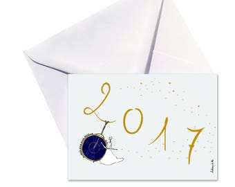 Card folded 2017, white envelope.