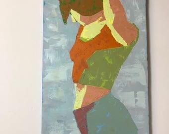 Original Oil Woman Painting