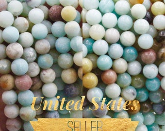 Amazonite Beads Strand - 6mm 8mm 10mm amazonite Matte or Polished Amazonite bead amazonite Round bead - Natural Gemstone beads multicolor