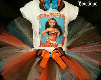 Moana tutu dress, moana tutu set, moana birthday tutu outfit, moana t,utu, moana dress, moana tutu outfit, moana birthday tutu dress