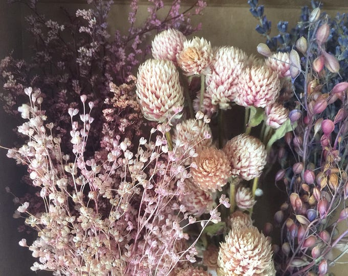 Bloomery Blend No. 0007: Mixed Natural Mini Flower Bunches / Pink - Purple Fantasy