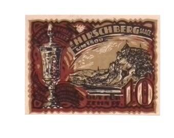 1921 Germany HIRSCHBERG  10  Pnennig  Notgeld / Banknote