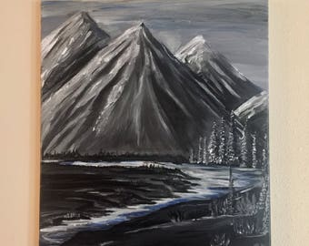 Smokey Mountains- Acrylic Painting- 16x20