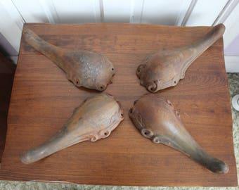 Antique cast iron stove legs