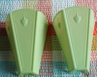 Pair 1930's Vintage Bakelite Wall Light Shades