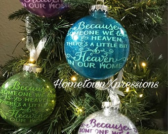 Because someone we love is in heaven ornament