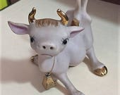 Adorable Norcrest Cow Figurine - Fail at Standing