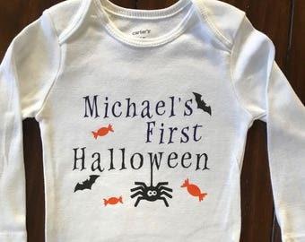 My first halloween, halloween onesie, Halloween Shirt, boy halloween, fall onesie