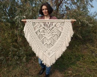 FREE SHIPPING Extra large macrame wall hanging - Ready to ship