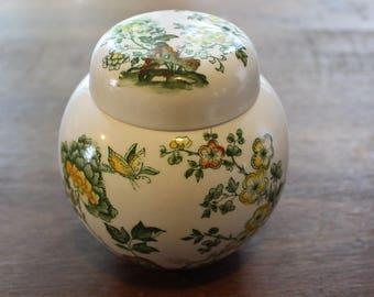 Vintage Mason's Patent Ironstone Manchu Ginger Jar England Transferware